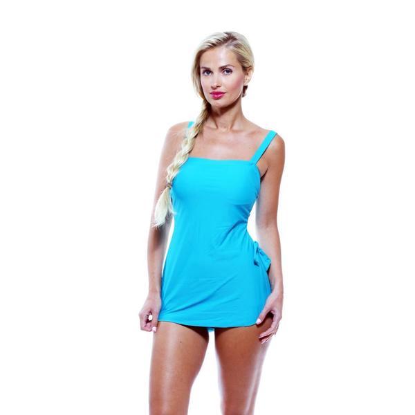 Antiqua Women's New Teal One-piece Sarong Swimsuit