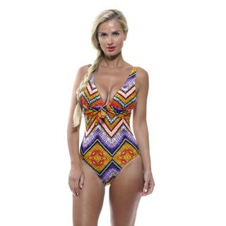 Antiqua Women's Jewel Tone Tank One-piece Swimsuit