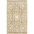 Safavieh Hand-knotted Ganges River Ivory/ Green Wool Rug (2' x 3')