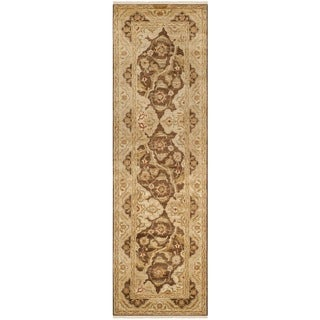 Safavieh Hand-knotted Peshawar Vegetable Dye Olive/ Gold Wool Rug (3' x 10')