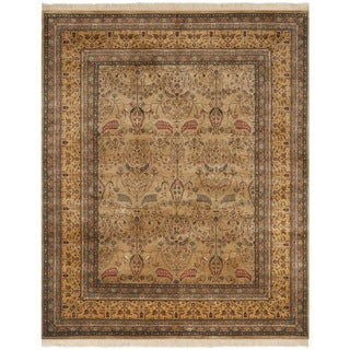 Safavieh Hand-knotted Ganges River Camel/ Gold Wool Rug (6' x 9')