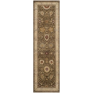 Safavieh Hand-knotted Lavar Brown/ Ivory Wool Rug (3' x 12')