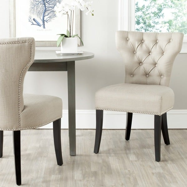 Safavieh Dharma Biscuit Beige Polyester Side Chair (Set of 2)