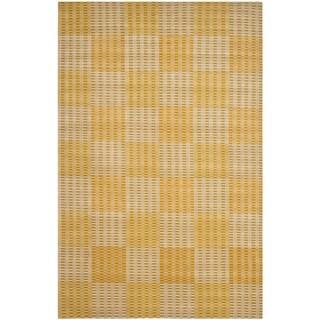 Safavieh Hand-knotted Nepalese Creme/ Yellow Wool/ Silk Rug (6' x 9')