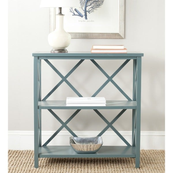 Safavieh Liam Teal Open Bookcase