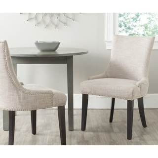 Safavieh Lester Grey Viscose Blend Dining Chair (Set of 2)