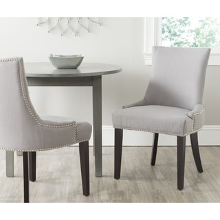 Safavieh Lester Arctic Grey Terelyne/ Cotton Blend Dining Chair (Set of 2)