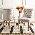 Safavieh Ashley Grey Viscose Blend Side Chair (Set of 2)