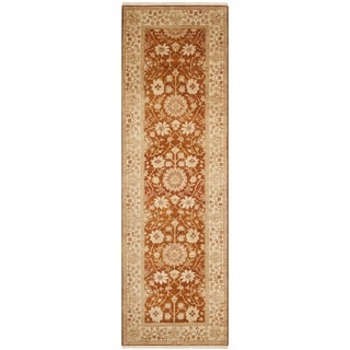 Safavieh Hand-knotted Peshawar Vegetable Dye Rust/ Lemon Wool Rug (3' x 12')