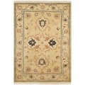 Safavieh Hand-knotted Peshawar Vegetable Dye Light Gold/ Ivory Wool Rug (3' x 5')