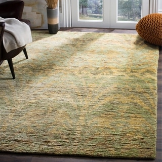Safavieh Hand-knotted Bohemian Green/ Gold Jute Rug (8' x 10')