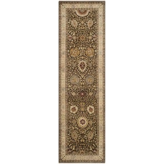 Safavieh Hand-knotted Lavar Brown/ Ivory Wool Rug (3' x 14')