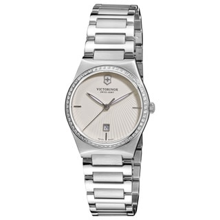 Swiss Army Women's 241521 'Victoria' White Dial Stainless Steel Bracelet Watch
