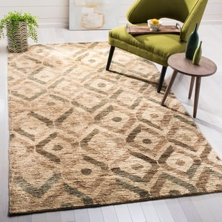 Safavieh Hand-knotted Bohemian Bleach/ Brown Jute Rug (8' x 10')