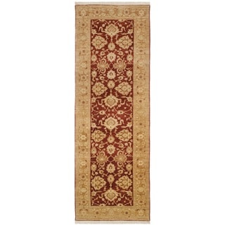 Safavieh Hand-knotted Peshawar Vegetable Dye Rust/ Lemon Wool Rug (3' x 14')