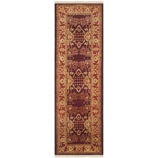 Safavieh Hand-knotted Peshawar Vegetable Dye Burgundy/ Bronze Wool Rug (3' x 14')