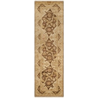 Safavieh Hand-knotted Peshawar Vegetable Dye Olive/ Gold Wool Rug (3' x 18')