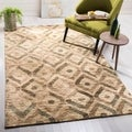 Safavieh Hand-knotted Bohemian Bleach/ Brown Jute Rug (5' x 8')