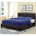 Arched Chocolate Upholstered Headboard and Platform Bed Frame