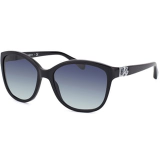 Dolce & Gabbana Womens 'DG 4162P 501/8G' Black Cateye Sunglasses