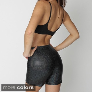 American Apparel Women's Metallic Workout Shorts