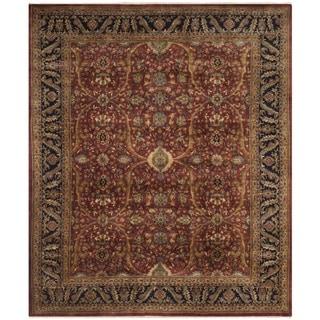 Safavieh Hand-knotted Farahan Sarouk Rust/ Navy Wool Rug (9' x 12')