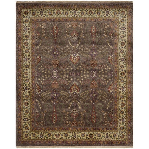 Safavieh Hand-knotted Ganges River Lilac/ Light Green Wool Rug (9' x 12')