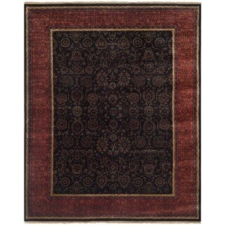 Safavieh Hand-knotted Ganges River Black/ Rust Wool Rug (9' x 12')