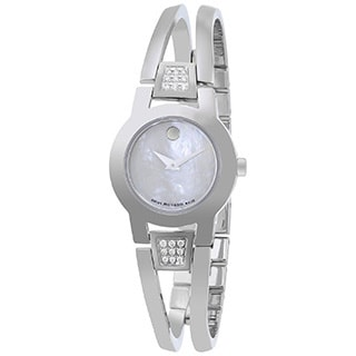 Movado Women's 'Amorosa' Stainless Steel Diamond Accent Watch