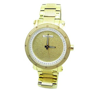 Joe Rodeo Men's 'JoJino' Goldplated Stainless Steel Diamond Watch