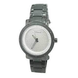 Joe Rodeo Men's 'JoJino' Diamond Grey Stainless Steel Watch