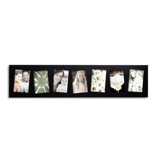 Adeco Black 7-opening Wooden Hanging Wall Collage