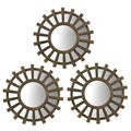 Elements Bronze Sunburst Mirror (Set of 3)