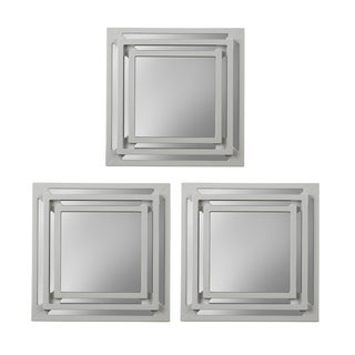 Elements Triple Square Mirrors (Set of 3)
