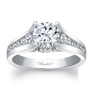 Barkev's Designer 14k White Gold 1 3/5ct TDW Diamond Engagement Ring (F-G, SI1-SI2)