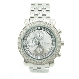 Joe Rodeo Men's 1/4ct TDW 'JoJino' Diamond Stainless Steel Watch