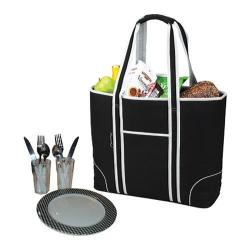 Picnic at Ascot Large Insulated Picnic Tote for Two Black