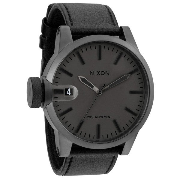 Nixon Men's Chronicle Matte Black/Gunmetal Watch