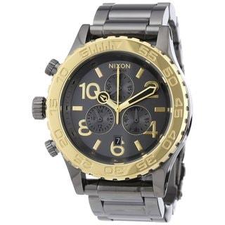 Nixon Men's Chrono Gun n' Gold Watch