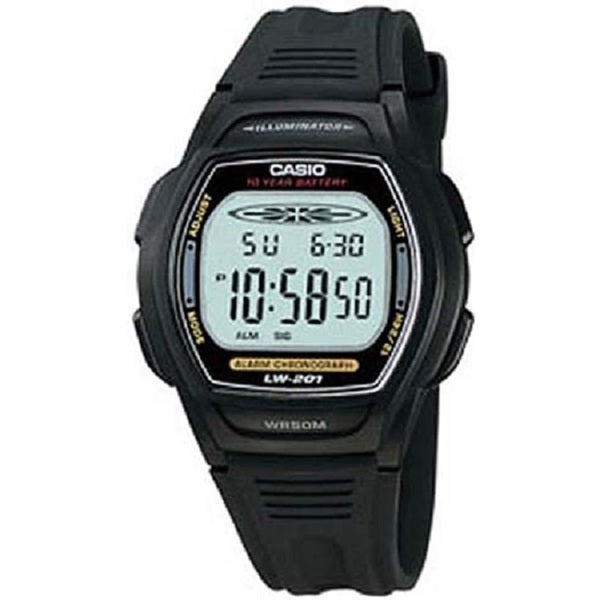 Casio Women's LW201-1AV Digital Alarm Chronograph Watch