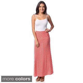Women's Zig-zag Maxi Skirt with Bonus Tank Top