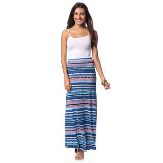 Women's Striped Maxi Skirt with Bonus Tank Top