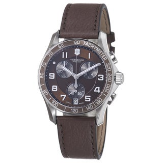 Swiss Army Men's 241498 'Chrono Classic' Brown Dial Brown Leather Strap Watch