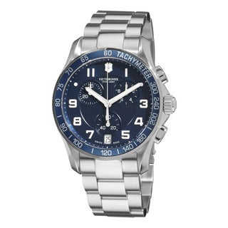 Swiss Army Men's 241497 'Chrono Classic' Blue Dial Stainless Steel Bracelet Watch