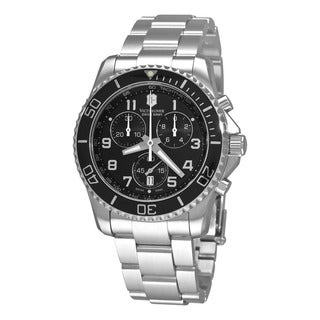 Swiss Army Men's 241432 'Maverick' Black Dial Stainless Steel Chronograph Watch