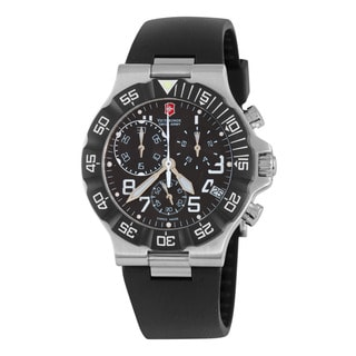 Swiss Army Men's 241336 'Summit XLT' Black Dial Black Rubber Strap Quartz Watch