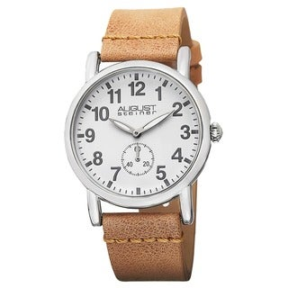 August Steiner Women's Swiss Quartz Genuine Leather Strap Watch