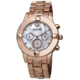 August Steiner Women's Swiss Quartz Crystal Multifunction Bracelet Watch