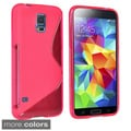 BasAcc Colors S Shape TPU Rubber Skin Cover Case for Samsung Galaxy S5/ SV