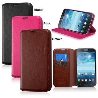 BasAcc Wallet PU Leather with Card Slot stand Case for Samsung Galaxy Mega 6.3